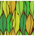 Seamless green hand drawn floral pattern vector image