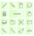 14 kitchen icons vector image vector image