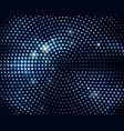 abstract black background with retro blue glitter vector image vector image