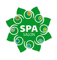 abstract floral logo for Spa salon vector image vector image