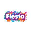 abstract logo for fiesta vector image vector image