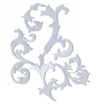Acanthus leaf ornament pattern vector image vector image