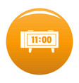 alarm clock retro icon orange vector image vector image