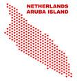 aruba island map - mosaic of lovely hearts vector image vector image