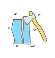 axe wood cutter icon vector image