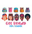 back to school childrens vector image vector image