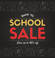 back to school sale background vector image vector image