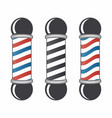 barber shop pole set vintage barber shop sign vector image