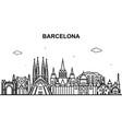 barcelona city tour cityscape skyline line outline vector image