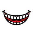 Big happy toothy cartoon smile icon