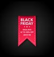 black friday sale banner design red ribbon vector image