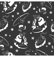 Black White Monkeys Surfing Seamless vector image
