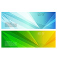 blue and green color geometric abstract vector image vector image
