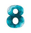 blue number eight vector image vector image