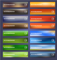 Blurred banners set vector image