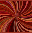 brown abstract psychedelic striped spiral vector image vector image