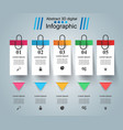 business infographics pin vector image vector image
