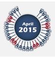 calendar 2015 April template vector image