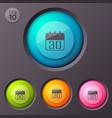 calendar icon buttons background vector image vector image