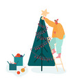 christmas season and winter family celebration vector image vector image