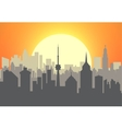 City skyline at sunset vector image vector image