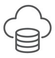 cloud computing line icon data and analytics vector image vector image
