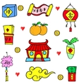 Collection stock of Chinese New Year doodles vector image vector image