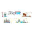 construction site residential houses building vector image
