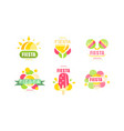 fiesta logo and labels original design set vector image