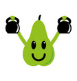 fitness pear vector image vector image