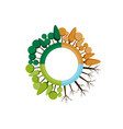 four seasons icon tree vector image