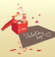 Gift box for valentine sweet love vector image