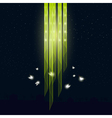 Glowworms flying around the lamp vector image vector image