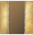 golden menu template vector image