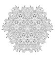 grafic round lace pattern vector image vector image