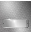 Grain-oriented metal background vector image vector image