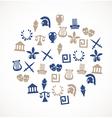Greece symbols vector image vector image