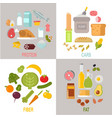 healthy nutrition proteins fats carbohydrates vector image