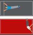 horizontal bar chin-up strong athlete man cards vector image vector image