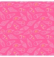 Ice Cream Pattern Pink vector image