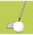 Icon of golf design vector image