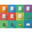 Icons of copywriting in flat style vector image