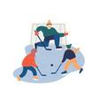 kids playing hockey flat vector image vector image
