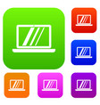 laptop set collection vector image vector image