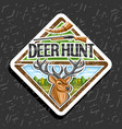 logo for deer hunt vector image