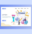 lottery website landing page design vector image vector image