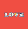love concept word art vector image vector image