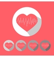 Medical icon heart vector image vector image