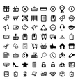 Mega collection of outline shopping icons Online vector image vector image