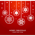 Merry Christmas snowflakes baubles vector image vector image
